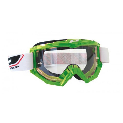 Progrip MX Motocross Race Line Goggles Anti scratch lens Green.