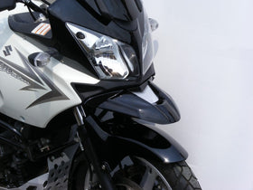 Suzuki DL650 V-Strom  04-July 2011 Matt Black-Silver Mesh ABS Beak by Powerbronze