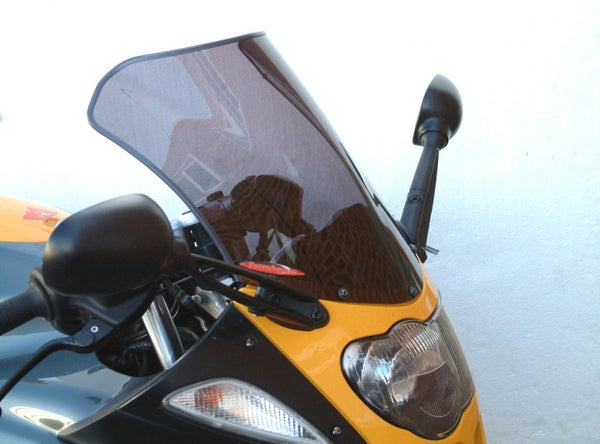 BMW R1100S  98-2005 Airflow Dark Tint Double Bubble Screen by Powerbronze