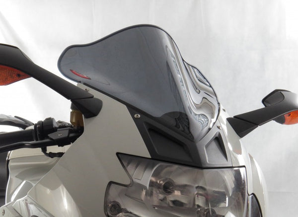 BMW K1300S 09-2016  Airflow Light Tint DOUBLE BUBBLE SCREEN by Powerbronze