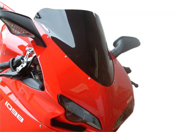 Ducati 848  07-2013  Airflow  Light Tint DOUBLE BUBBLE SCREEN by Powerbronze