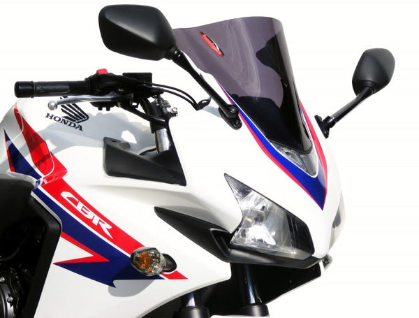 Honda CBR500R  13-2015 Airflow Light Tint DOUBLE BUBBLE SCREEN by Powerbronze