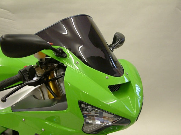 Kawasaki ZX6-R  03-2004  Airflow Dark Tint DOUBLE BUBBLE SCREEN by Powerbronze