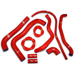 Aprilia RSV1000 Mille 04-08 SamcoSport Red Silicone Hose Kit  & Stainless Hose Clips