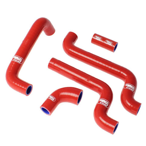 Aprilia RS125 2005-2012 SamcoSport Red Silicone Hose Kit  & Stainless Hose Clips