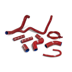 Aprilia 750 Shiver 07-17 SamcoSport Red Silicone Hose Kit  & Stainless Hose Clips