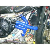 Aprilia RS250 ALL YEARS SamcoSport Red Silicone Hose Kit  & Stainless Hose Clips