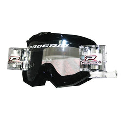 Progrip MX Motocross Race Line Goggle with RNRXL-36mm Roll Off System Black