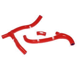 Honda CRF 450R 2009-2012 SamcoSport 3 piece Silicone Hose Kit Red