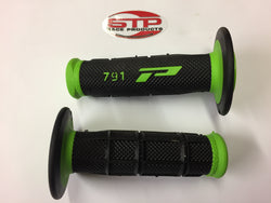 Progrip Soft Touch 791 Green Black MX Off Road Grips Dual Density 115mm