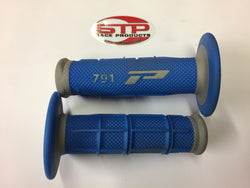 Progrip Soft Touch 791 Blue Grey MX Off Road Grips Dual Density 115mm