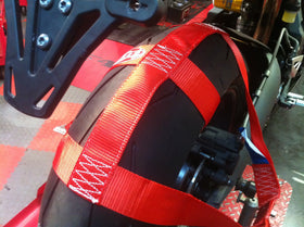 Motorbike Transport Tie Down Wheel Strap Polyester webbing Strap RED BSB
