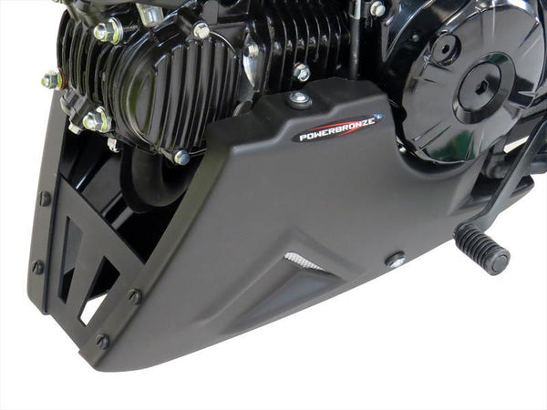 Honda Grom MSX125 2015-2020 Belly Pan Black Finish & Silver Mesh Powerbronze.