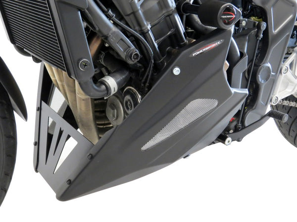 Honda CB650R   2019-2020 ABS Belly Pan  Gloss Black with Silver Mesh Powerbronze