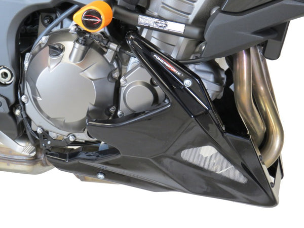 Kawasaki Versys 1000 & SE   2019 > Belly Pan  Gloss Black with Silver Mesh by Powerbronze