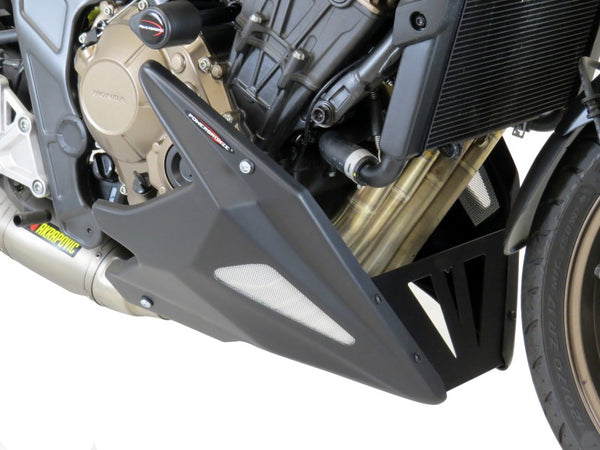 Honda CB650R   2019-2020 ABS Belly Pan  Carbon Look with Silver Mesh Powerbronze