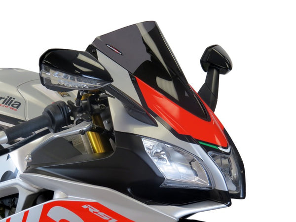 Aprilia RSV4 1100 Factory  19-20 Airflow Dark Tint DOUBLE BUBBLE SCREEN Powerbronze