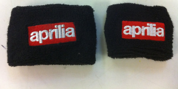 Aprilia Black Motorcycle Front & Rear Brake Master Cylinder Shrouds Socks Cover
