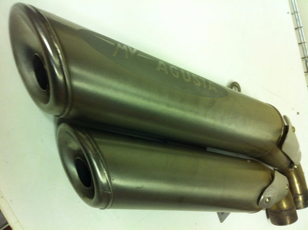 MV Agusta Brutale 910r Pair upper & lower Silencers  Used Condition with scuffs .