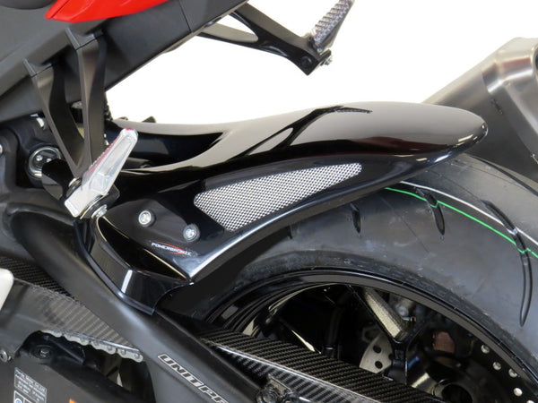 Honda CBR1000RR Fireblade  17-2019  Rear Hugger by Powerbronze Matt Black & Silver Mesh