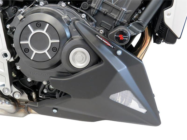 Honda CB1000R   2018-2019  Belly Pan   Black with Silver  Mesh by powerbronze