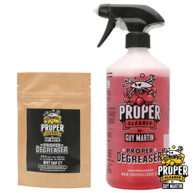 Guy Martin PROPER Motorcycle De-Greaser Starter Pack Bottle & Refill Pouch 2x750ml.