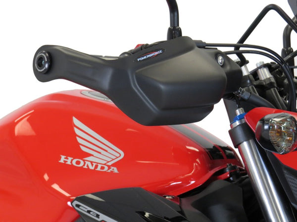 Honda CB500F  16-2020 Matt Black Handguard/Wind Deflectors Powerbronze