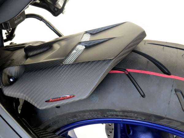 Yamaha MT-10 & FZ-10  16-2020  Rear Hugger by Powerbronze Gloss Black & Silver Mesh