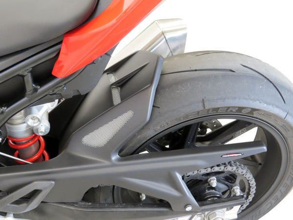 BMW S1000RR 2019 > Rear Hugger by Powerbronze Gloss Black & Silver Mesh
