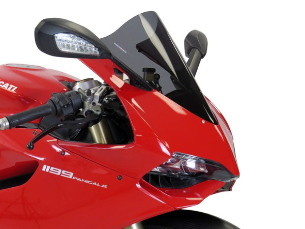 Ducati 899 Panigale 14-2015  Airflow (no graphic) Dark Tint DOUBLE BUBBLE SCREEN by Powerbronze