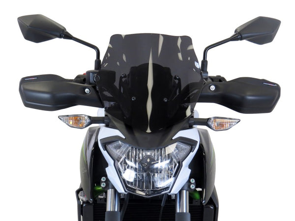 Kawasaki Z650  17-2020 Matt Black Handguard/Wind Deflectors Powerbronze