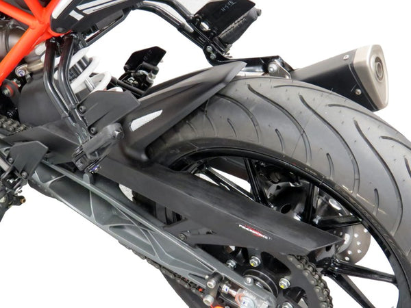 KTM RC125 & RC390  15-2019  Rear Hugger by Powerbronze Matt Black & Silver Mesh