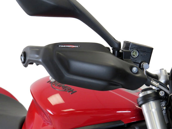Triumph Street Triple S  17-2019  Matt Black Handguard/Wind Deflectors Powerbronze