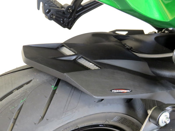 Kawasaki H2 SX & H2 SX SE 18-2020  Rear Hugger by Powerbronze Matt Black & Black Mesh