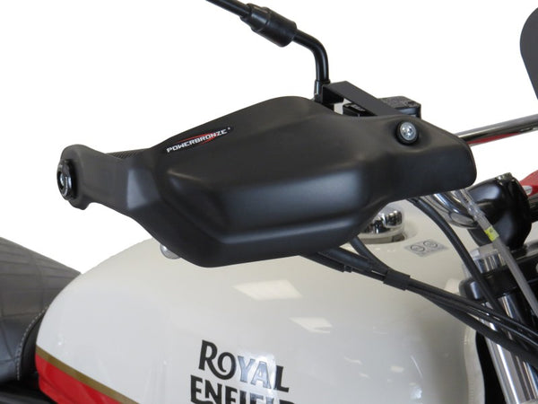 Royal Enfield Interceptor 650 18-2020 Matt Black Handguard/Wind Deflectors Powerbronze