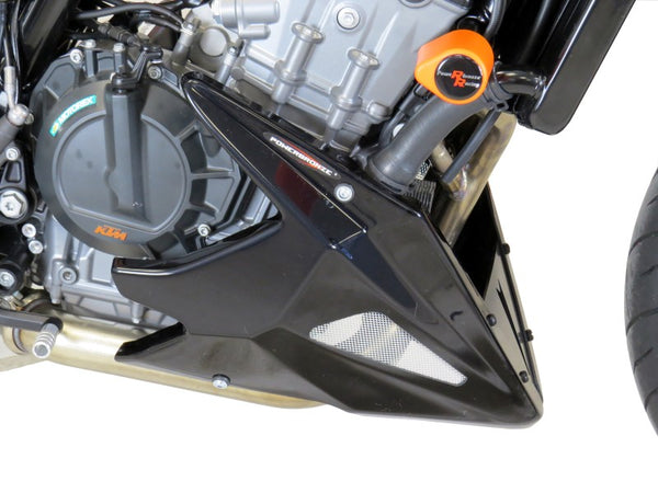 KTM 790 Duke 18-2020 Belly Pan Gloss Black & Silver Mesh by Powerbronze BSB
