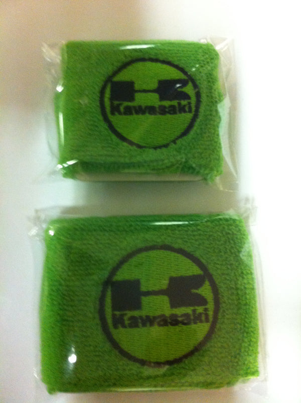 Kawasaki Motorcycle F&R Brake Master Cylinder Shrouds Socks Cover pair Green