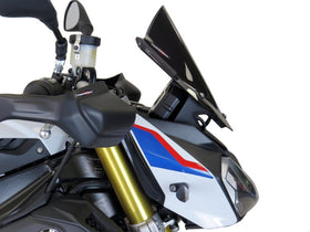 BMW S1000R 14-2020  Airflow Dark Tint DOUBLE BUBBLE SCREEN by Powerbronze