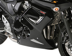 Suzuki GSF1250S  Bandit 2007-2014 Fairing Lowers Gloss Black & Silver Mesh by Powerbronze RRP £210
