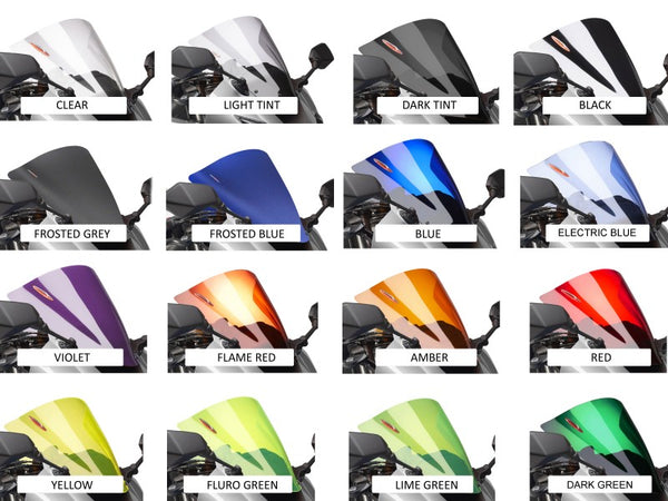 Honda CBR250R  11-2013 Airflow Light Tint DOUBLE BUBBLE SCREEN by Powerbronze