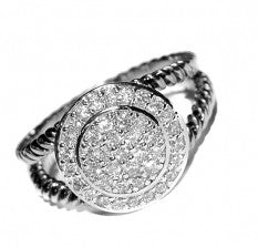Fashion CZ Pave Ring