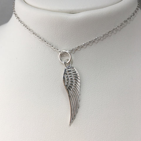 Sterling Silver Angle Wing Necklace