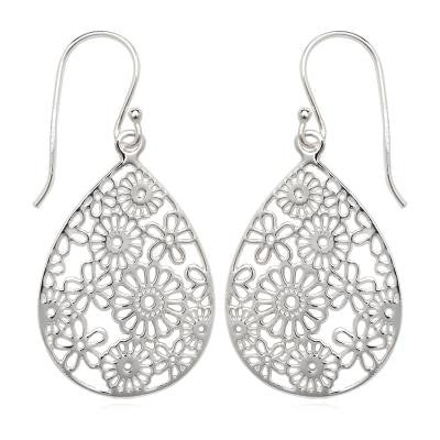 Sterling Silver Teardrop Earring