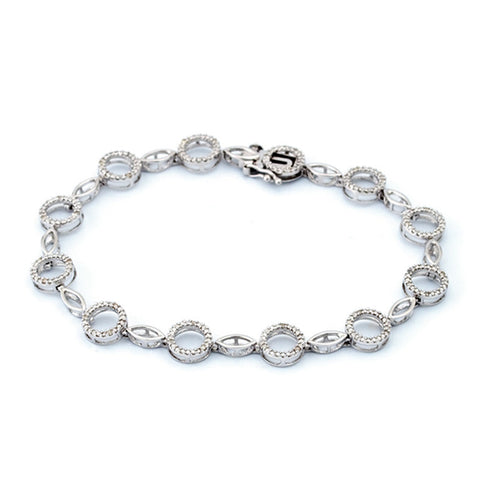 Sterling Diamond Circle Bracelet