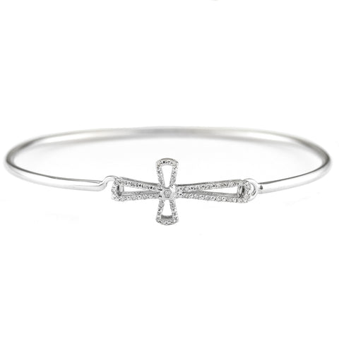 Sterling & Diamond Bangle