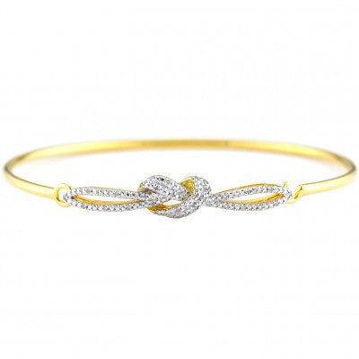 Sterling Gold Plated Heart Bangle