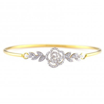 Sterling Plated Rose Bracelet