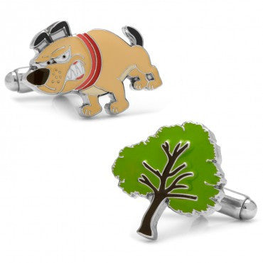 Barking Up The Wrong Tree Cuff Links