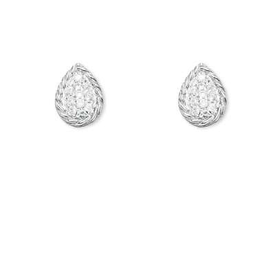 Sterling Silver CZ Earrings Pear Shape