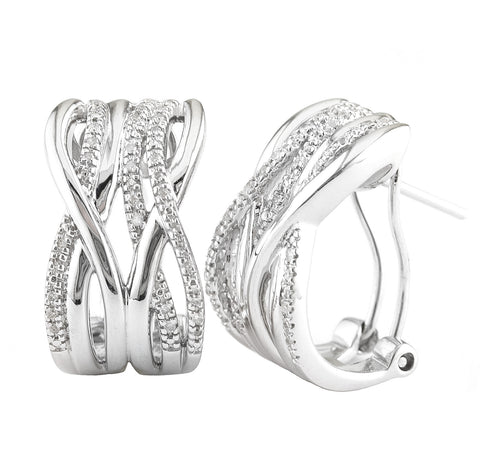 Diamond Double Infinty Earrings